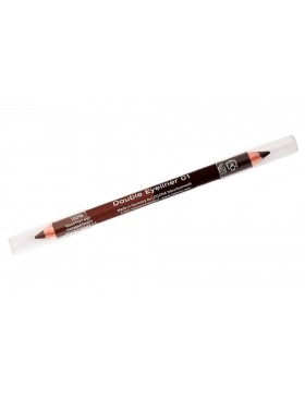 Double Eyeliner Pencil no. 01, coffee