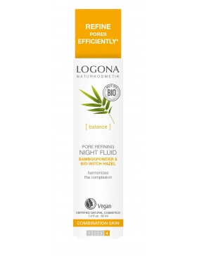 Logona Pore Refining Night Fluid Bio Bamboo&Witch Hazel