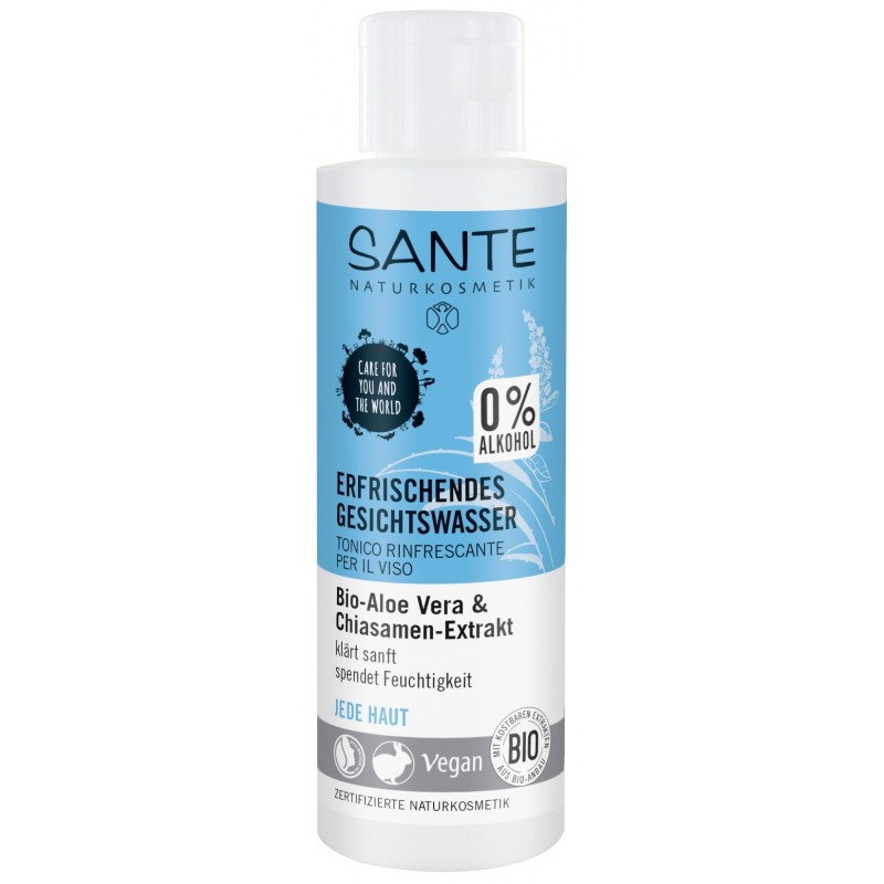Sante Refreshing Facial Toner with bio aloe vera and Chia extract