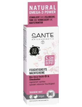Sante Moisturizing night cream with bio shea butter and inca inchi oil