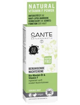 Sante soothing night cream wit bio almond oil&vitamin F