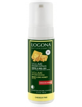 Logona Volume Styling Mousse Bio Beer&Honey