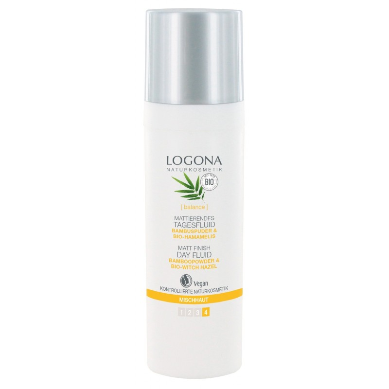 Logona Matt Finish Day Fluid Bio Bamboo&Witch Hazel
