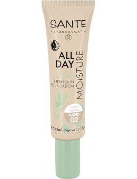 Sante All Day Moisture 24h Fresh Skin Foundation 02 sand