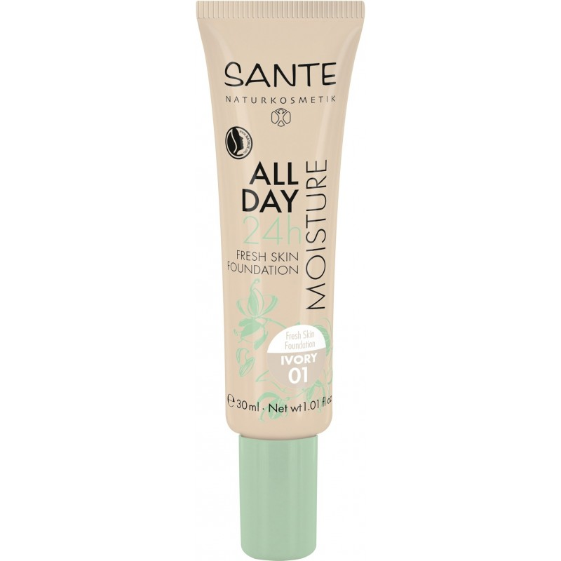 Sante All Day Moisture 24h Fresh Skin Foundation 01 ivory