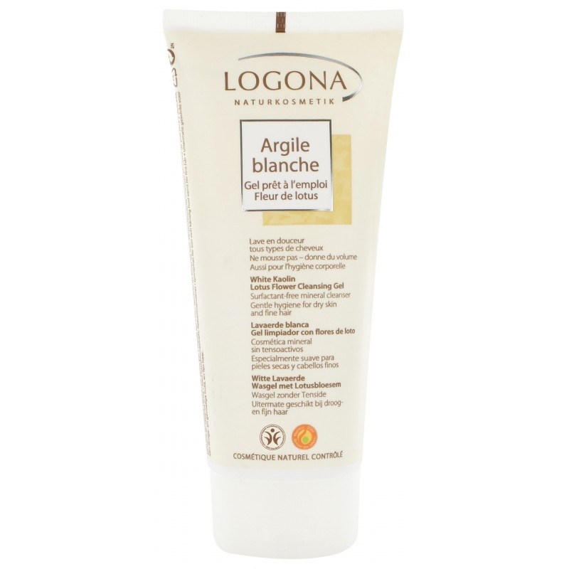 White Kaolin Lotus Flower Cleansing Gel
