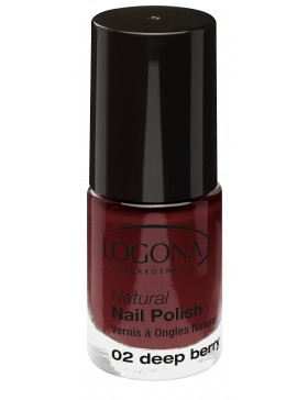 Natural Nail Polish no. 02 deep berry
