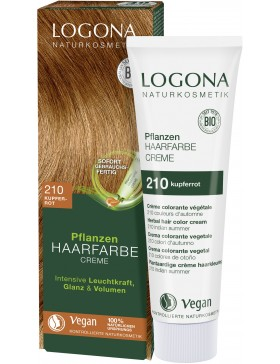 Herbal Hair Color Cream 210 Copper red