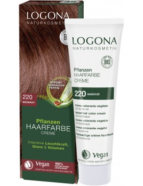 Herbal Hair Color Cream Wine Red