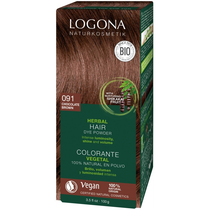 Chocolate Brown Herbal Hair Color