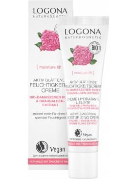 Logona Moisture lift Active Smoothing Day Cream Bio Rose