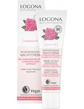 Logona Regenerating Night Cream BIO ROSE&KALPARIANE